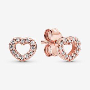 🥂Pandora Open Heart Stud Earrings